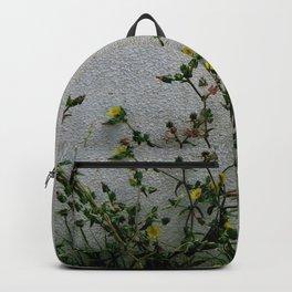 Minimal flora - yellow daisies wild flowers Backpack