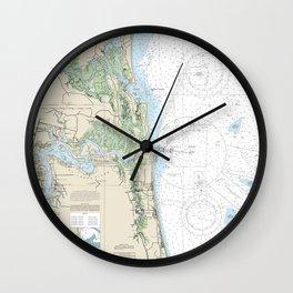 Jacksonville, FL Chart Wall Clock