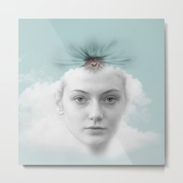 A girl who lived in a cloud Metal Print