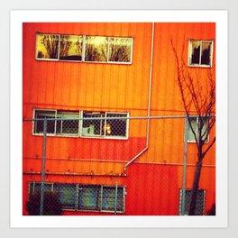 Orange Industrial Art Print