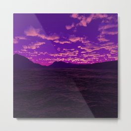 Purple Illusion Metal Print