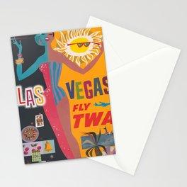 Vintage Las Vegas Poster Stationery Cards