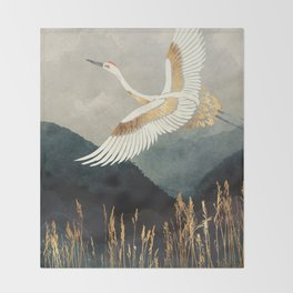 Elegant Flight Throw Blanket