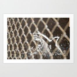Shark fence Art Print