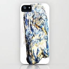 Kyanite crystall Gemstone iPhone Case