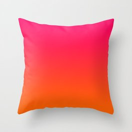 Bright Pink and Orange Ombre Throw Pillow