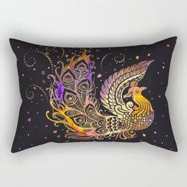 Colorful Glow Phoenix Bird Rectangular Pillow