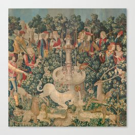 The Hunt of the Unicorn Canvas Print
