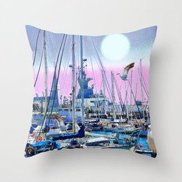 Stretching High Throw Pillow