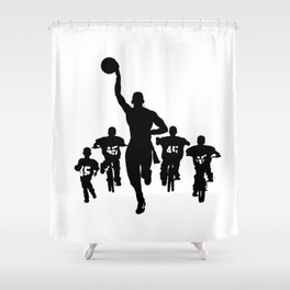 #thejumpmanseries, Boobie Miles Shower Curtain