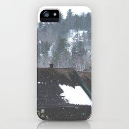 Winter Landscape - Hidden Valley Chalets iPhone Case