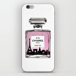 Paris perfume fashion illustration eiffel tower iPhone Skin
