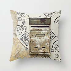 Mailbox and Mural Throw Pillow