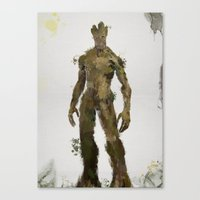 groot Canvas Prints featuring Groot by Scofield Designs