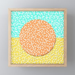 Memphis Sun Framed Mini Art Print