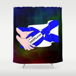 Rugby Scotland Flag Shower Curtain
