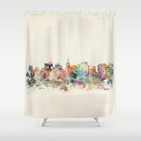 wisconsin Shower Curtains featuring madison wisconsin by bri.buckley