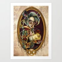 steampunk Art Prints featuring Steampunk by Mili Koey