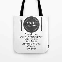 Now Servin Tote Bag