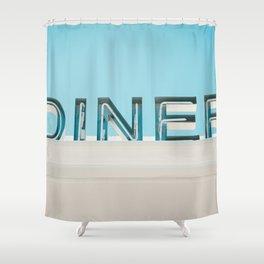Diner fluo Shower Curtain