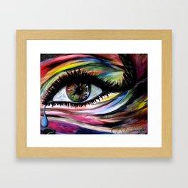 ॐ I N * L I V I N G * C O L O R ॐ Framed Art Print