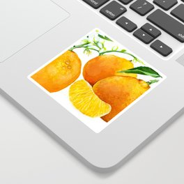 Oranges and their blossoms Sticker