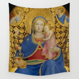"""Fra Angelico (Guido di Pietro) """"Madonna of Humility"""" 1433-1435 Thyssen-Bornemisza Museum Wall Tapestry"""