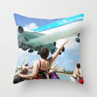 airplane Throw Pillows featuring Airplane! by Noah Bolanowski