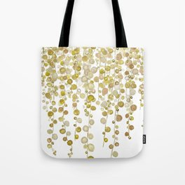 golden string of pearls watercolor 2 Tote Bag