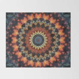 Fundamental Spiral Mandala Throw Blanket
