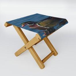 Colorful Wood Duck Folding Stool