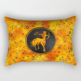 Sagittarius Zodiac Sign Fire element Rectangular Pillow