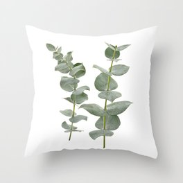 Eucalyptus Branches II Throw Pillow