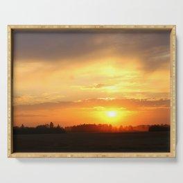 sunset sunset sunset Serving Tray