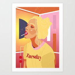 Tuesday mood with lollipop Art Print