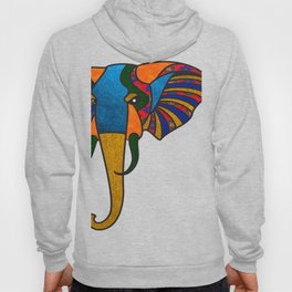 Primary Retro Elephant Hoody