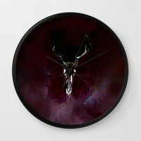 dead Wall Clocks featuring Dead by Sheri Gruver