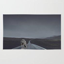 Road Wolf Rug