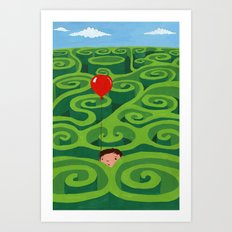 The Maze Art Print