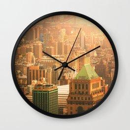 New York City Skyline Rooftops Wall Clock