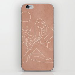 Engraved Nude Line I iPhone Skin