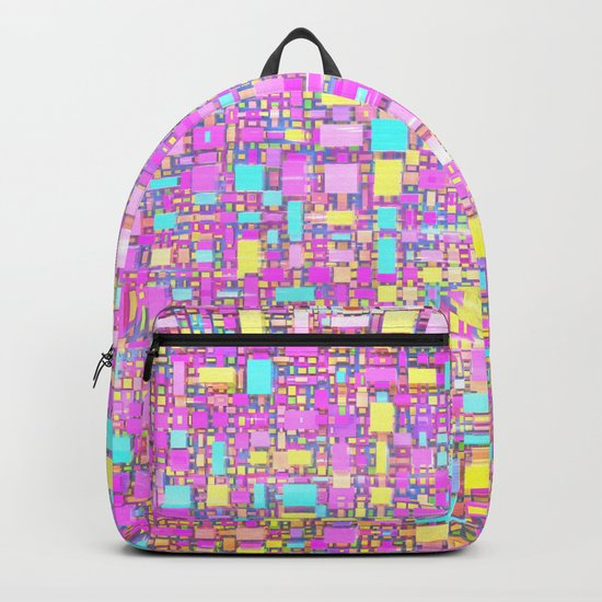 Wild Pastel Cubes Backpack