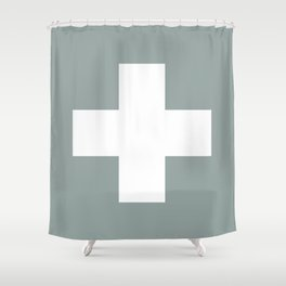 Swiss Cross Shower Curtain