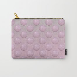 Feminine Pastel Pink Pearl Pattern Carry-All Pouch
