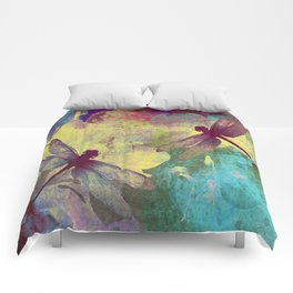 Painting Orchids and Dragonflies Comforters