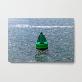 A smart buoy floating in the sea. Metal Print