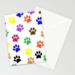 Paw print design Stationery Cards