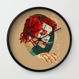 """""""Smoking Princess"""" Wall Clock"""