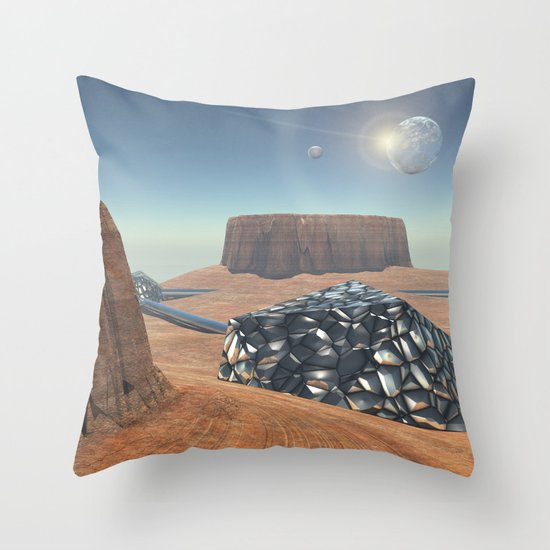Mars Babylon Colony, view of Armageddon  Throw Pillow
