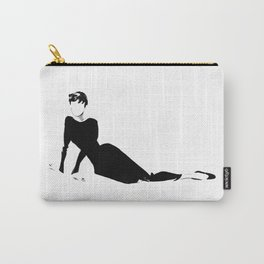 Audrey | Fashion Illustration Carry-All Pouch
